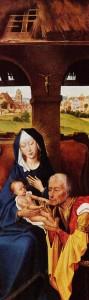 Utsnitt av måleri av Rogier van der Weyden.