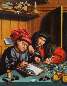 Marinus van Reymerswaale : Pengevekslarane