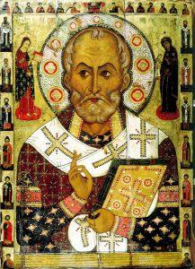 Russisk ikon som syner Nikolaus av Myra.