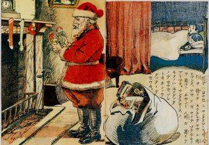 Nisse på eit japansk julekort frå 1914.