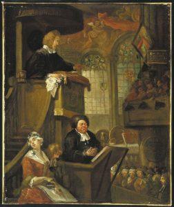 William Hogarth : The sleeping congregation.