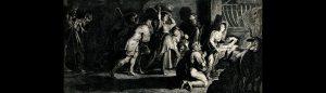 Hyrdingane tilbed Jesusbarnet, ei gravering av J. Witdoek etter P.P. Rubens.